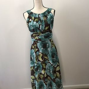 CONNECTED APPAREL FIT & FLARE  FLORAL DRESS